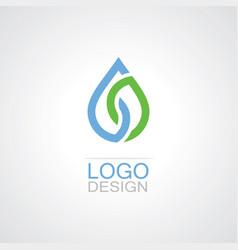 drop water eco logo vector image