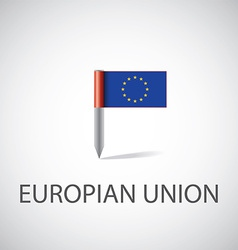 European union flag pin vector image