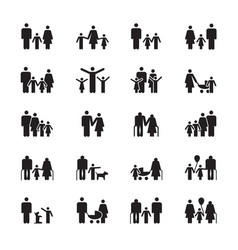 family pictograms grandparents father mother vector image vector image