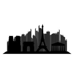 paris skyline vector image