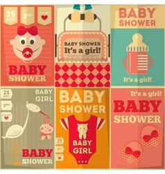baby girl set vector image vector image
