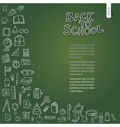 Back to school on chalkboard vector image