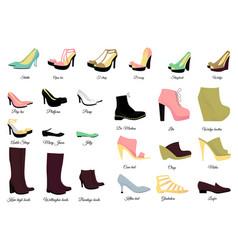 Big shoes set vector