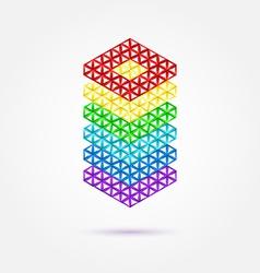 Abstract geometric shape - rainbow icon vector image