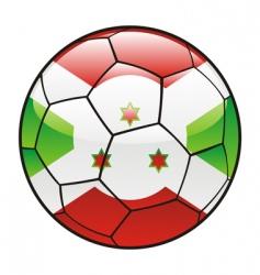burundi flag on soccer ball vector image vector image