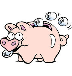 cartoon of a of a piggy bank vector image