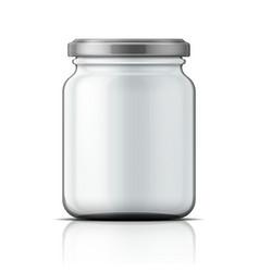 Empty glass jar with screw cap vector image vector image