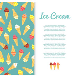 flat ice cream banner design vector image vector image
