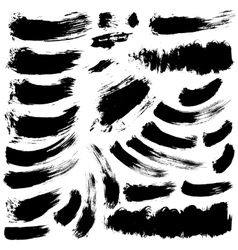 ink brush stains set vector image