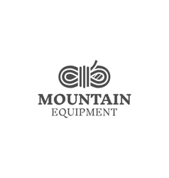 Mountain equipment badge outdoors logo emblem vector image vector image