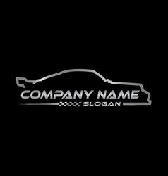 racing car symbol black background vector image vector image