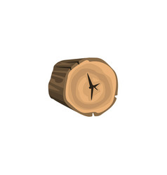 rounded piece of wood annual growth rings vector image vector image