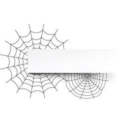 white halloween background with spiderweb vector image
