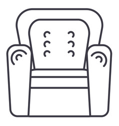 armchair line icon sign on vector image