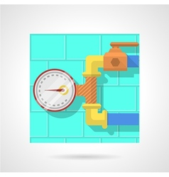 Flat color icon for manometer vector image