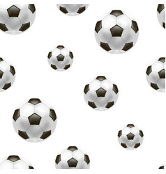 realistic detailed soccer ball background pattern vector image vector image