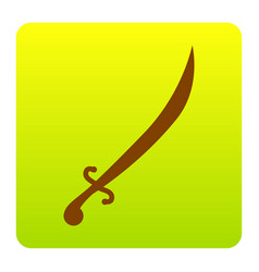 sword sign brown icon at vector image vector image