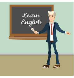 teacher english lesson vector image vector image