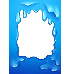 A blue template design vector