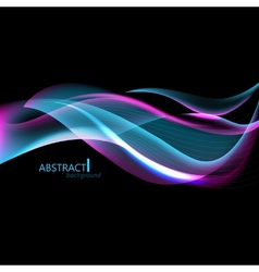 Abstract hi-tech background with waves for screen vector