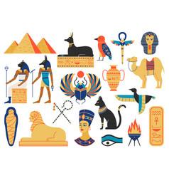 ancient egypt symbols mythological creatures vector image