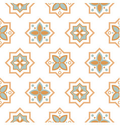 arabesque seamless pattern tiles oriental ceramic vector image