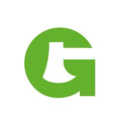 Axe and letter g logo icon design template vector