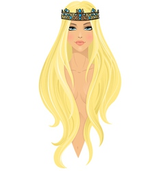 Beautiful girl in crown vector image