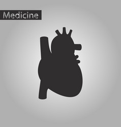 Black and white style icon of heart vector
