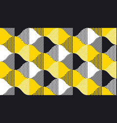 Black and yellow fun concept geometry pattern vector