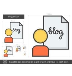 Blogger line icon vector
