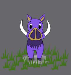 Boar on a background boar vector
