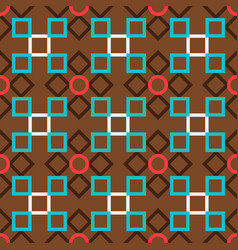 brown turkish ornamental ceramic tile vector image