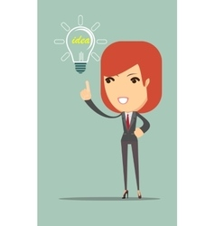 Business woman showing she has an idea vector