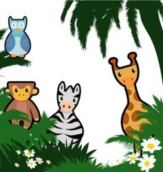 Cartoon wildlife vector