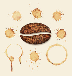 coffee stains on the paper isolated vector image
