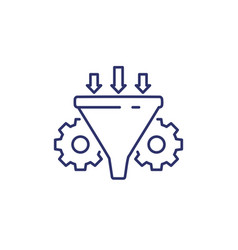 Conversion rate optimization icon line art vector