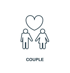 couple outline icon premium style design from vector image