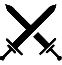 Crossed swords symbol war and duel theme logo vector