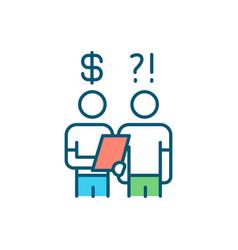 Debt collector rgb color icon vector
