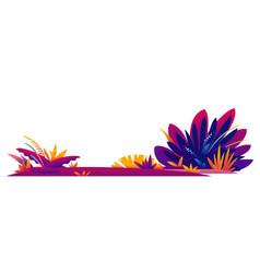 Decorative composition fantastic plants vector