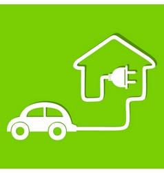 Eco car make a home icon stock vector image