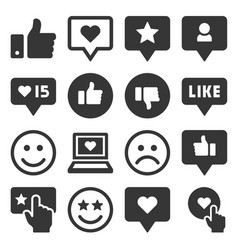 feedback and like icons set vector image