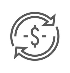 finance and banking line icon vector image