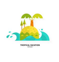 flat island vector image
