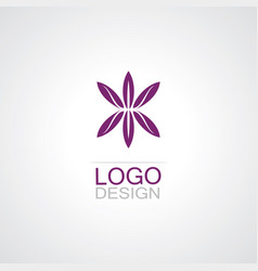Flower abstarct logo vector