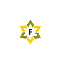 Flower infinity letter f vector