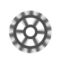 Gear sign gray icon shaked at white vector