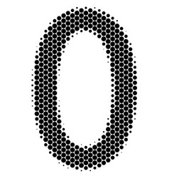 halftone dot zero digit icon vector image