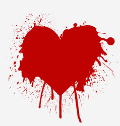 Heart shaped red splash vector